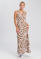Jersey dress with tiger-allover pattern