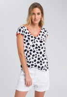 Printed shirt with contrast piping