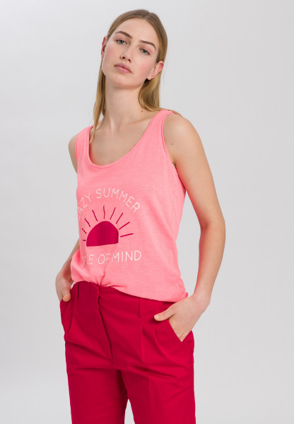 Jersey top with summery front print