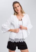 Linen jacket with open edges