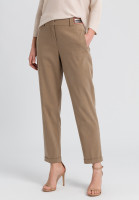 Pants made of sustainable twill with neon badge