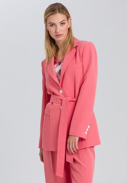 Blazer with tie belt from Easy Care material