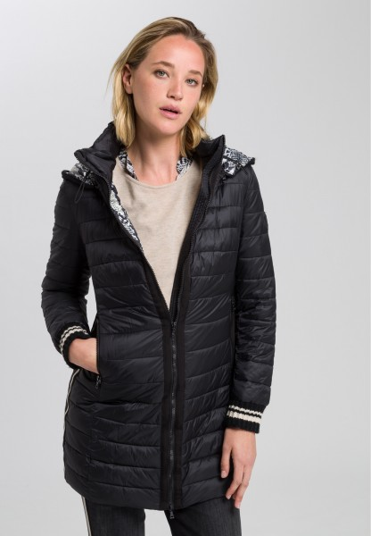 Quilted jacket with 2-way zipper