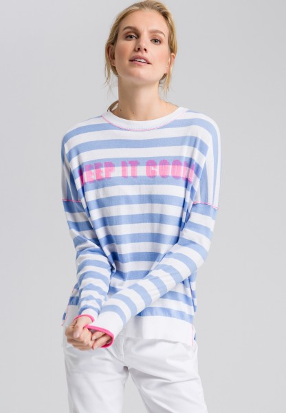 Jumper in a striped look