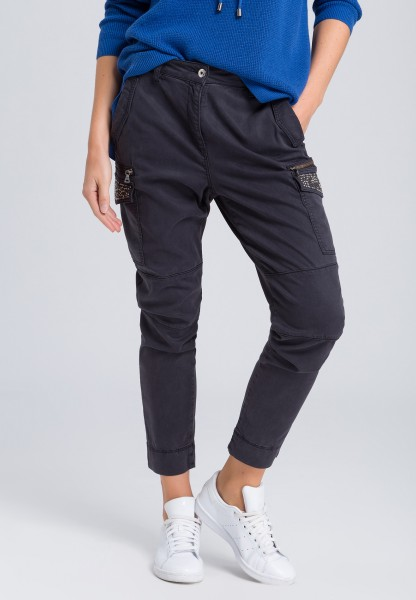 Cargo trousers with rivet details