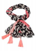 Rectangular scarf in ethno print