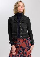 denim jacket with patch