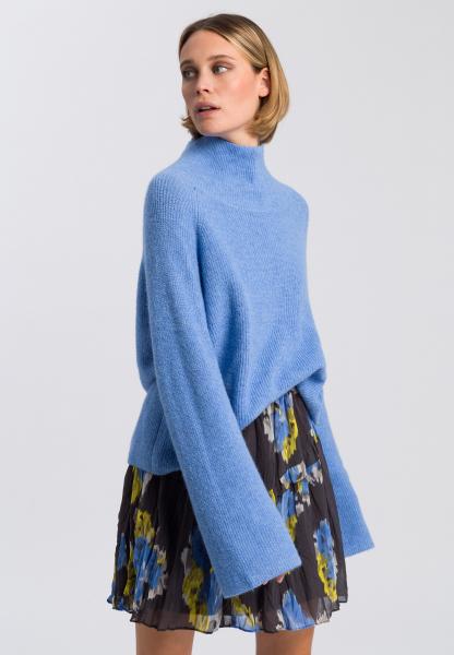 Turtleneck jumper with alpaca blend