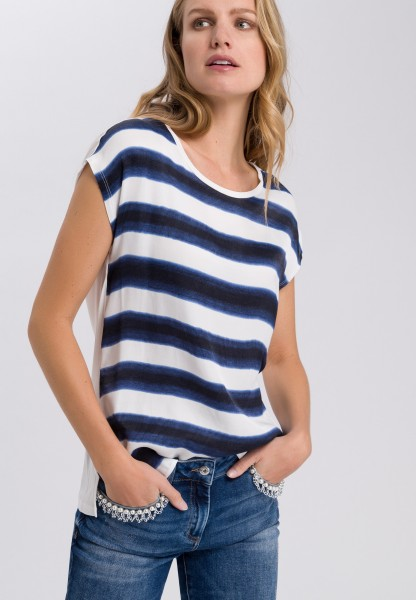 Shirt with block stripes