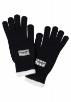 Finger gloves in fashionable black and white look