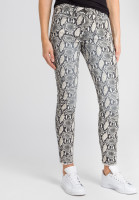 Trousers with snake print