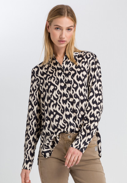 Blouse with ethno-print