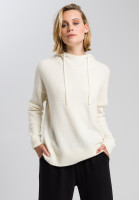 Knitted hoodie in fluffy look