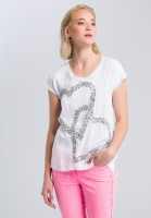 Shirt with sequin embroidery