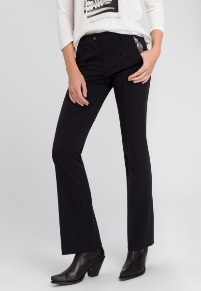 Trousers with flared leg