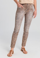 Jeans with leopard-print
