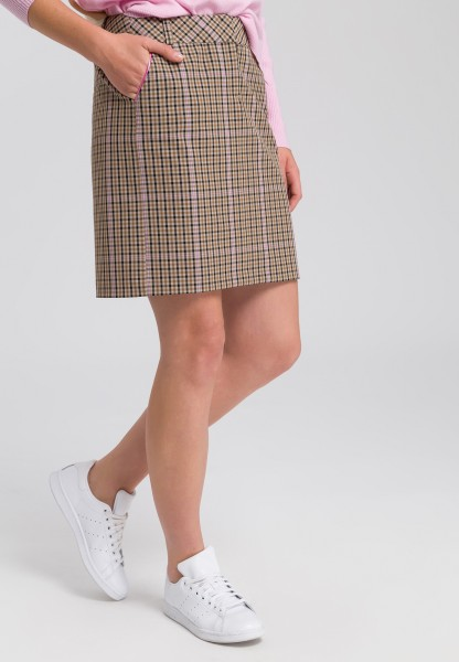 Skirt in check design