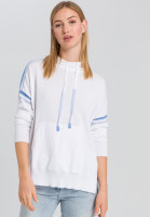 Knitted hoodie with contrast details