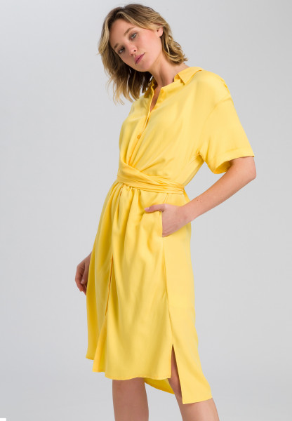 Shirt blouse dress with knot effect