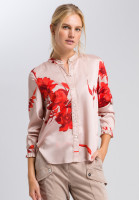 Long blouse with floral design