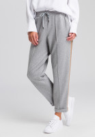 Pants made of mottled jersey