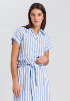 Shirt blouse in striped-look