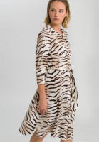Dress with tiger print