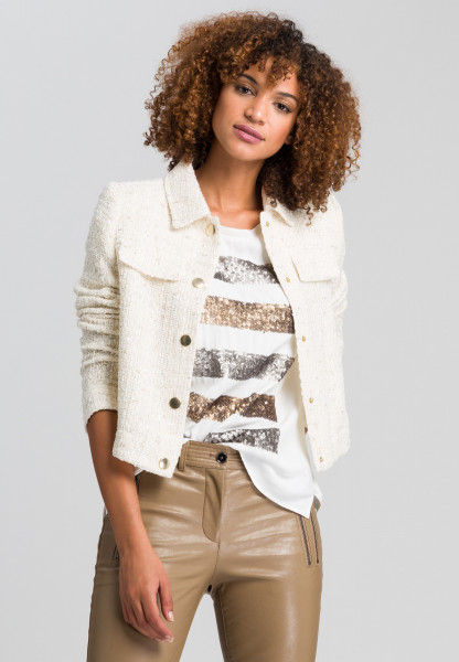 Short jacket in decorative bouclé