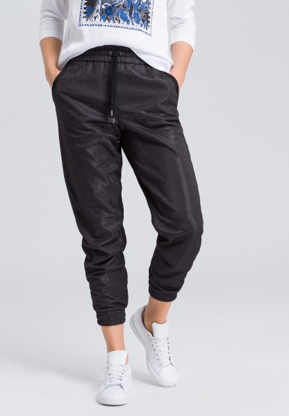 Pants from metallic jersey