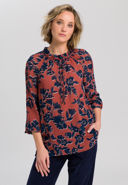 Tunic with flower print