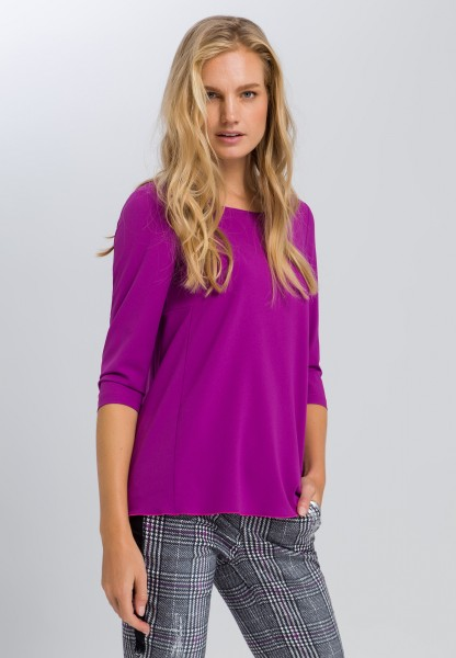 Tunic blouse with 3/4-length sleeves