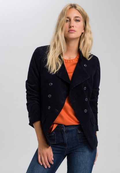 Corduroy jacket in military style