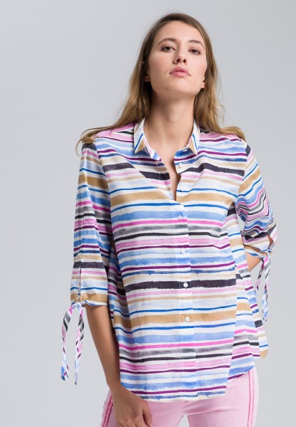 Shirt blouse in a striped design