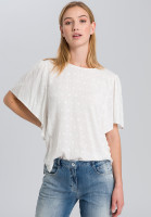 Blouse with fashionable wing arm
