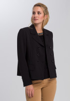 Blazer jacket Made of flowing crepe with rhinestone application