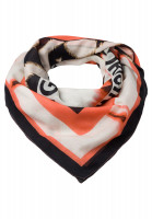 Square scarf in graphical tie-dye print