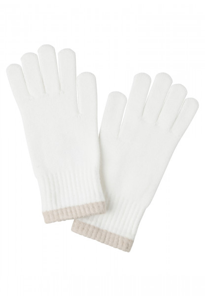Finger gloves with contrasting edge