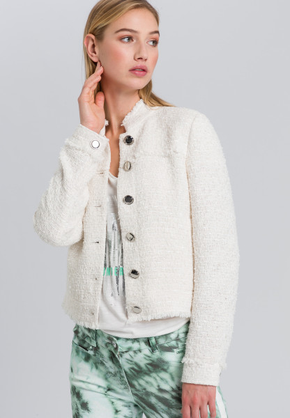 Short jacket with franking details