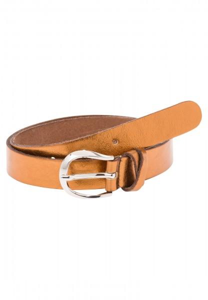 Belt in a metallic look