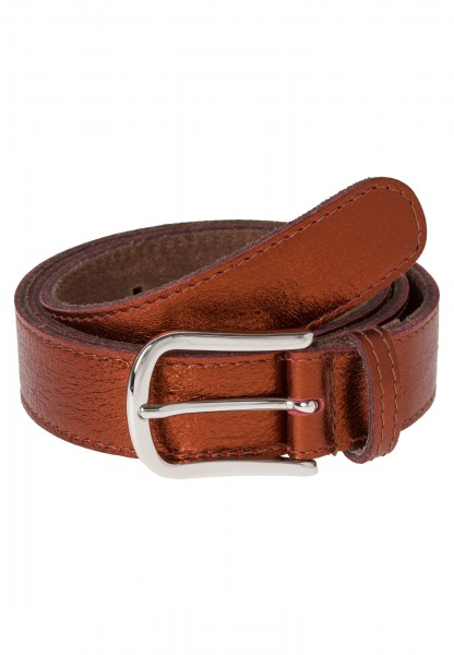 Belt in copper-metallic