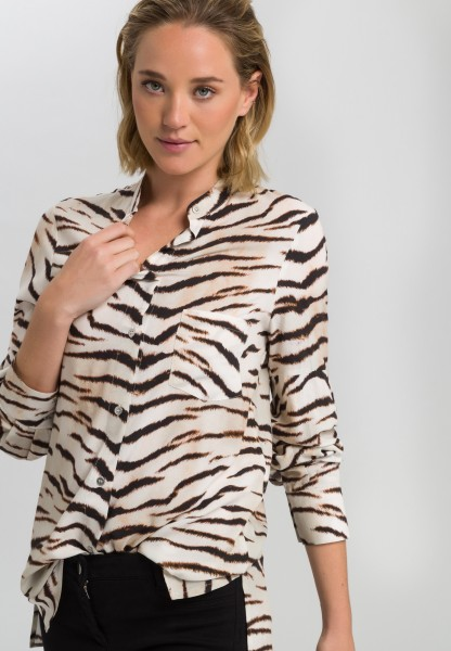 Tunic with tiger print