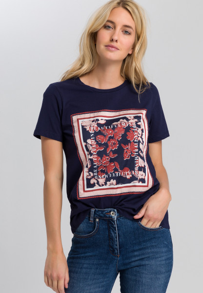 T-shirt with square flower print