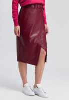 Wrap skirt leather-look