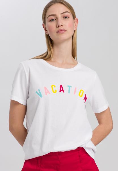 T-shirt mit sommerlichem Mottoprint