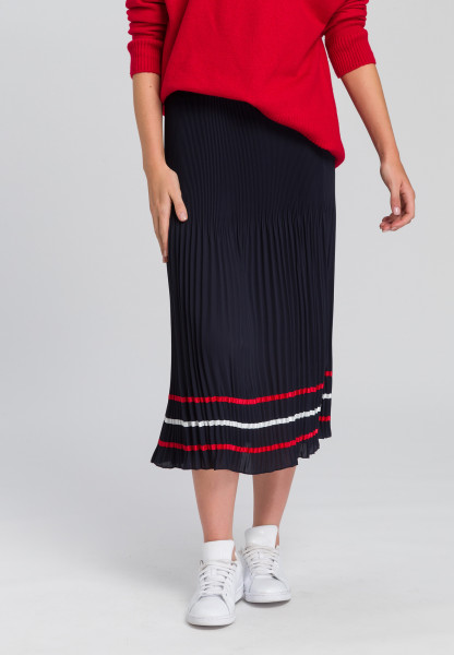 Pleated skirt With contrasting ribbons