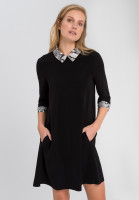 Dress with snake print details