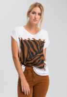 T-shirt with tiger frontprint