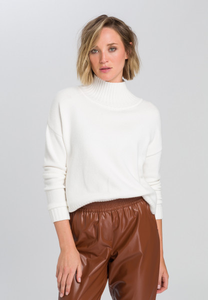 Sweaters with extra high stand-up collar