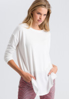 Blouse shirt in the material mix