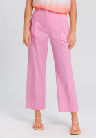 Fabric trousers with a wide leg